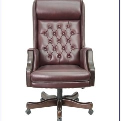 Desk Chair Brown Leather Rolling Accessories Tufted Home Design Ideas