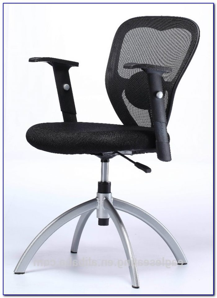 Upholstered Office Chair Without Wheels Desk Home
