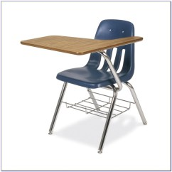 Folding Chair With Desk Fishing Brackets And Combo Home Design Ideas