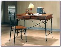 Metal And Wood Computer Desks - Desk : Home Design Ideas # ...