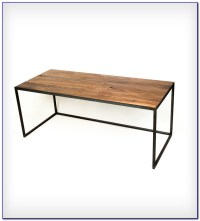 Wood Desk With Metal Legs Download Page  Home Design ...