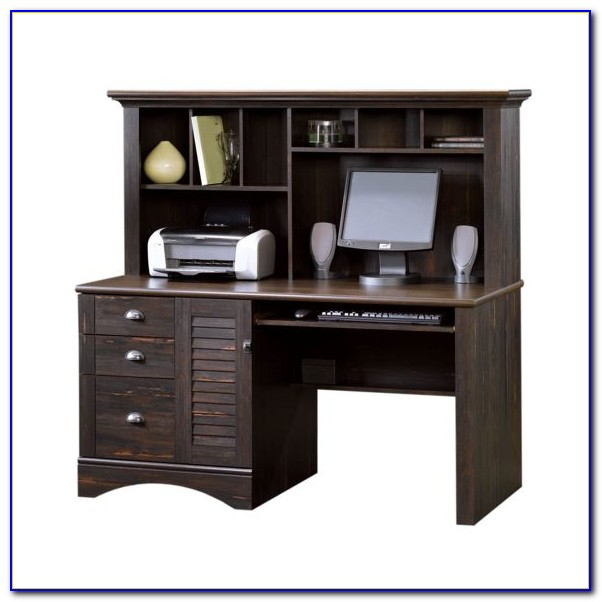Black Laptop Desk With Hutch  Desk  Home Design Ideas