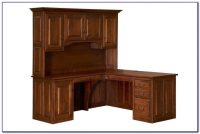 Solid Wood Corner Office Desk - Desk : Home Design Ideas # ...