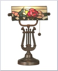 Tiffany Style Banker Desk Lamps