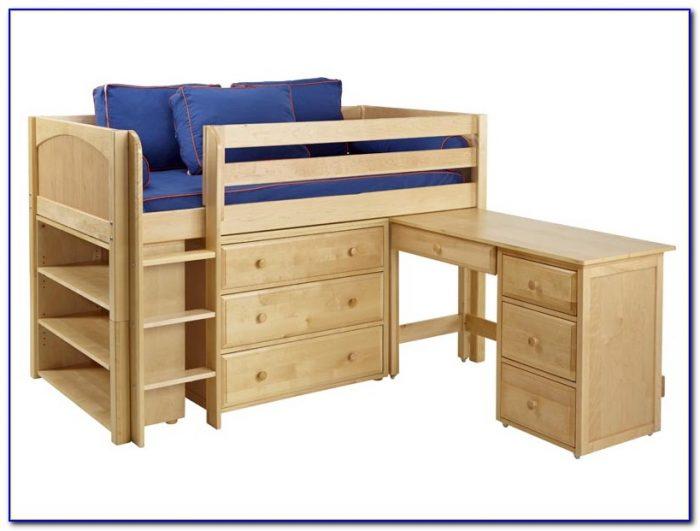 Loft Bed With Desk Plans  Beds  Home Design Ideas