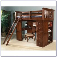 Wood Bunk Beds With Desk And Drawers - Bunk Bed With Desk ...
