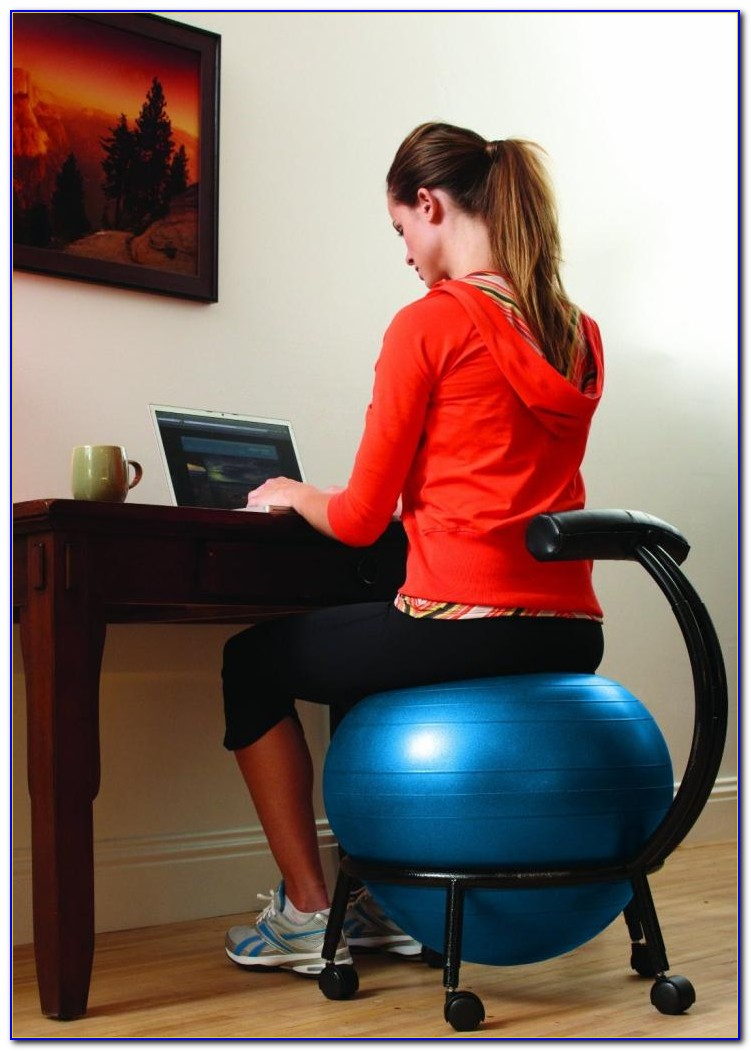 Exercise Ball For Office Chair Benefits  Desk  Home