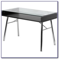 White Glass Top Writing Desk