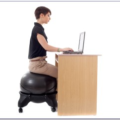 Yoga Ball Chair Base Retro Metal Yard Chairs Sitting On At Desk Calories Home Design