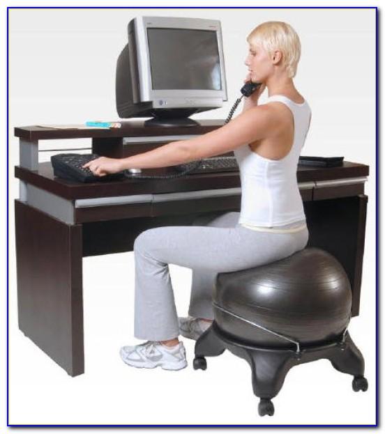 Swiss Ball Office Chair Benefits  Desk  Home Design