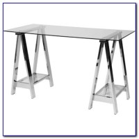 White Glass Top Writing Desk