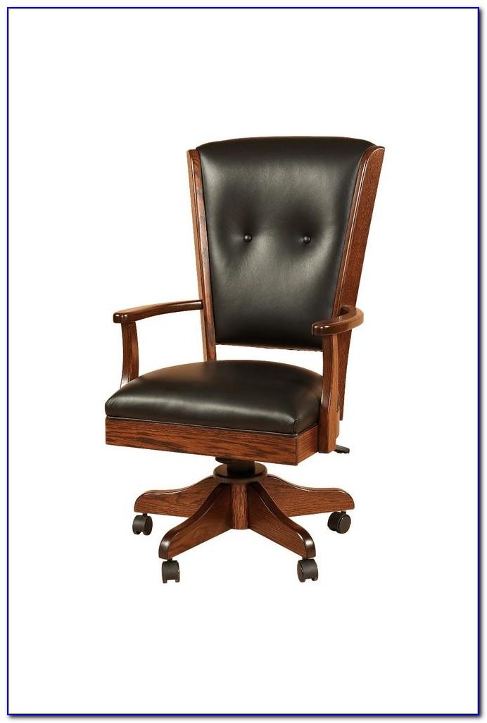 White Wooden Swivel Desk Chair  Desk  Home Design Ideas