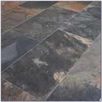 Kuala Black Porcelain Slate Effect Floor Tiles - Flooring ...