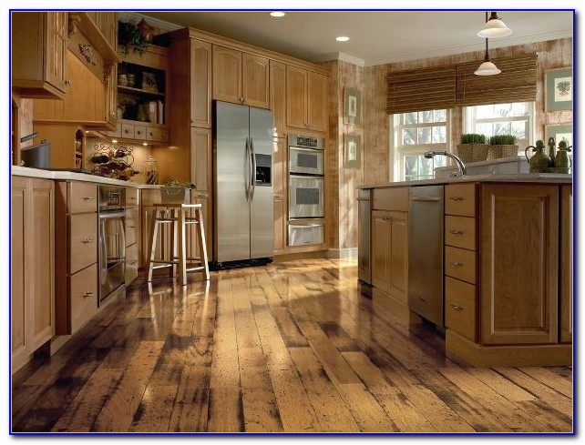 solid wood kitchen table exhaust system distressed hickory hardwood flooring - : home ...