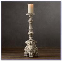 Floor Standing Pillar Candle Holders