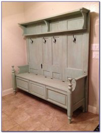 Entryway Bench Seat With Hat Coat Rack Storage Shoe Shelf ...