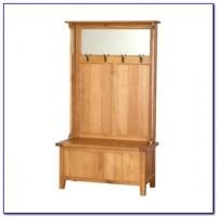White Coat Rack Storage Bench - Bench : Home Design Ideas ...