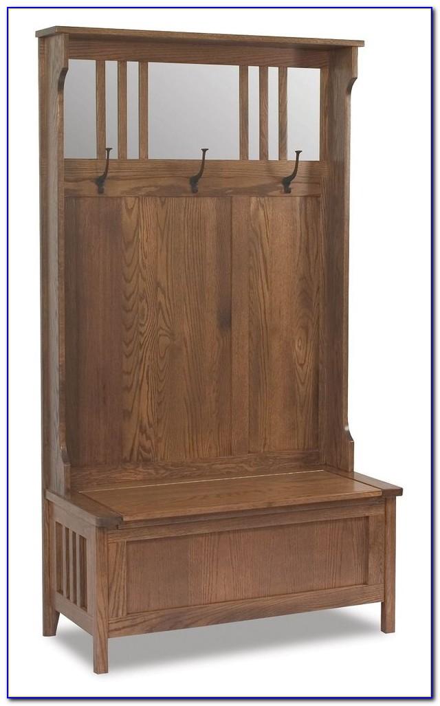 Entryway Bench Seat With Hat Coat Rack Storage Shoe Shelf