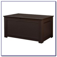 Rubbermaid Outdoor Storage Bench Seat - Bench : Home ...
