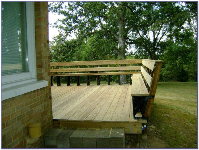 Bench Brackets For Deck Or Dock Bench Home Design