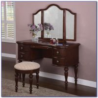 Antique Vanity Table With Mirror And Bench - Bench : Home ...
