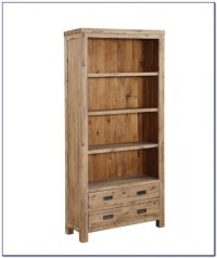 Real Wood Bookcase With Doors
