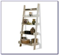 Narrow White Leaning Bookcase - Bookcase : Home Design ...