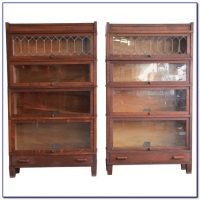 Antique Barrister Bookcase With Glass Doors - Bookcase ...