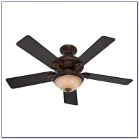 Hunter Flush Mount Ceiling Fan With Light And Remote ...