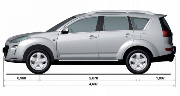 Peugeot Peugeot 4007 Abmessungen Amp Technische Daten