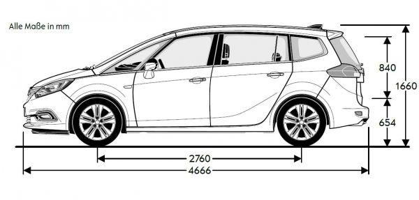 Opel Zafira Breite Mit Spiegel