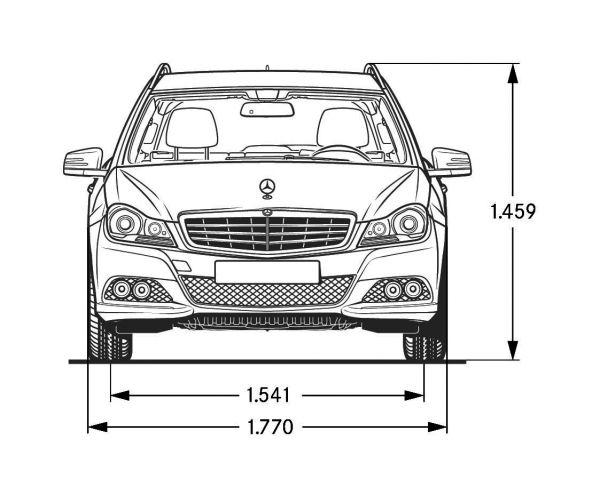 Mercedes c klasse sportcoupe abmessungen
