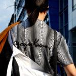 :: Outfit – White Dungarees & Yayoi Kusama Print
