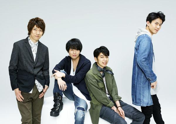 ▲左から羽多野渉、斉藤壮馬、西山宏太朗、武内駿輔