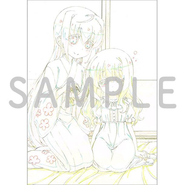 アニメ描き下ろしイラスト使用 B2タペストリー(たまて、冠)