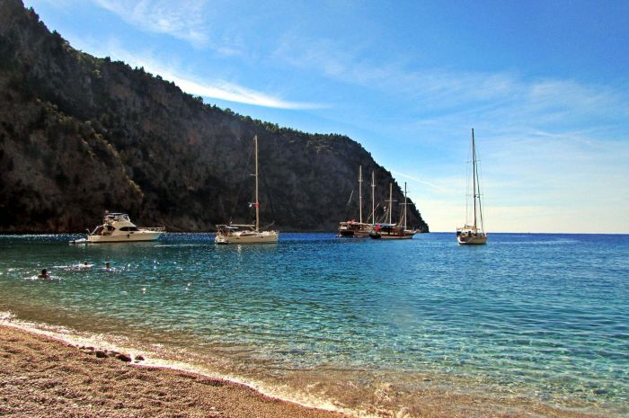 Faralya beach (Butterfly Valley, Turkey)
