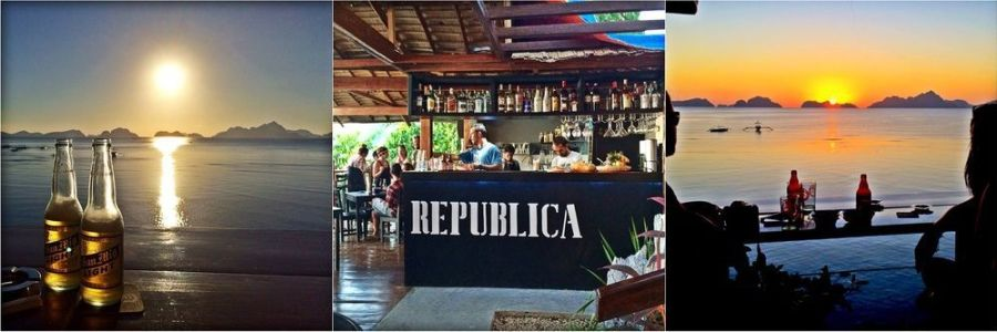 Republica Sunset bar - Ultimate guide to El Nido, Palawan (Philippines)