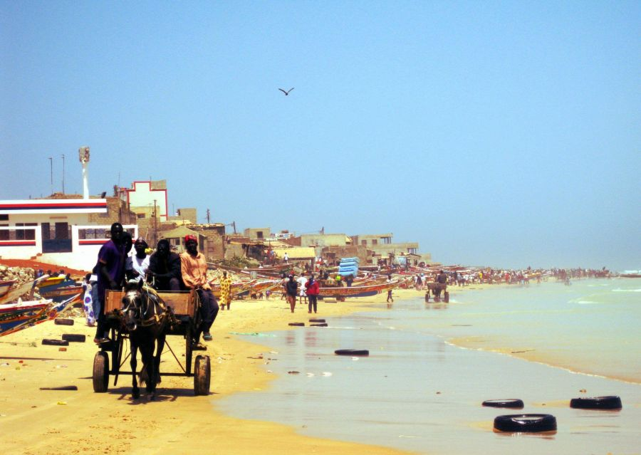 Though is not the best place for a dip, you will love Yoff beach and its scenes of the real Dakar.