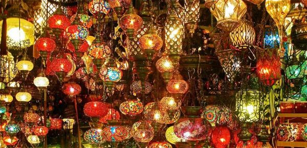 Lights in Grand Bazaar - Istanbul.