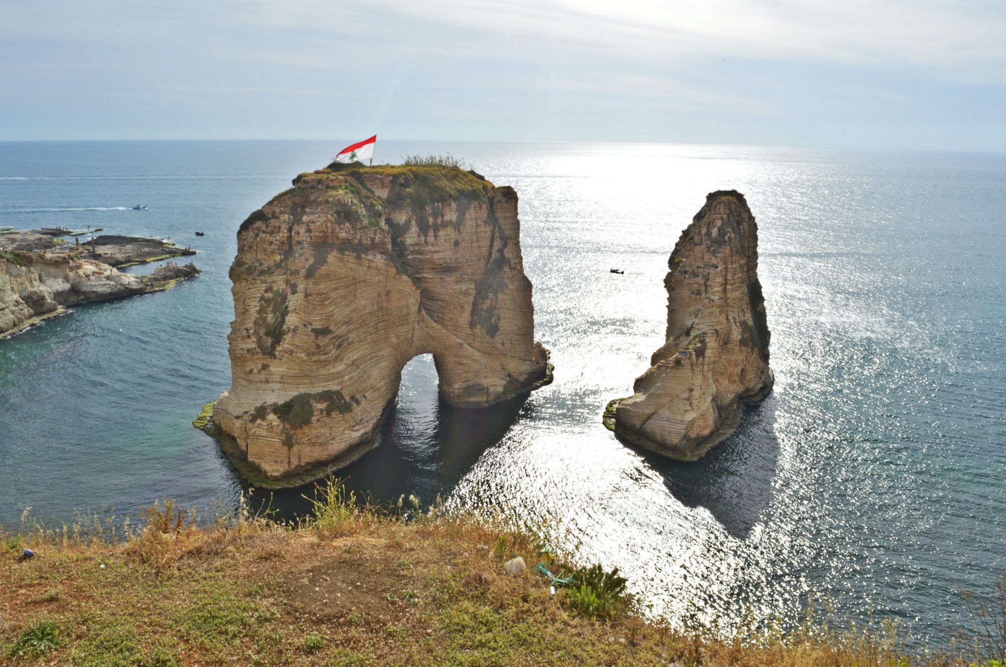The Pigeon rocks are the most famous landmark of Beirut