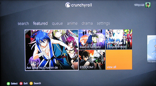 Review Crunchyroll Xbox 360 App   AniGamers