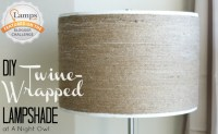 DIY Twine-Wrapped Lampshade - A Night Owl Blog