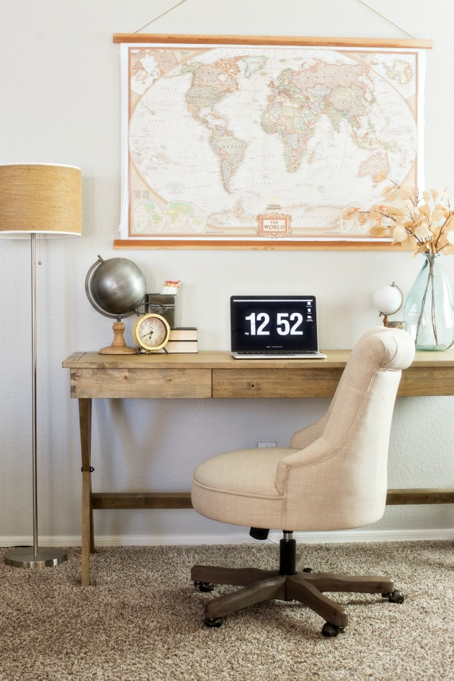 world market desk chair cheap small table and chairs for kitchen warm neutral home office a night owl blog create space with affordable finds from cost plus