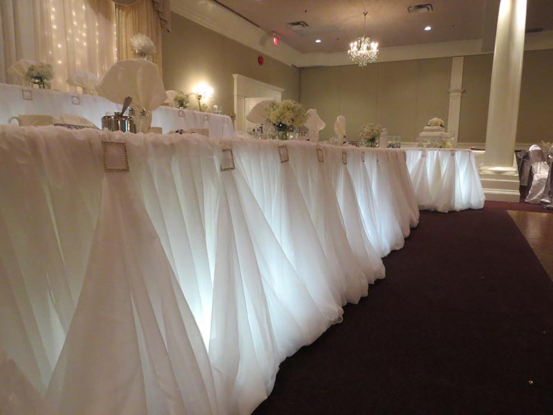 Head Tables Rentals Hamilton Niagara Falls Burlington