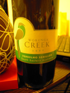 botella de vino creek