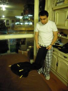 planchar raya del pantalon