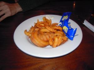 plato de curly fries londres