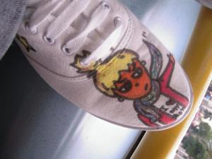 diy decorar zapatillas pintar
