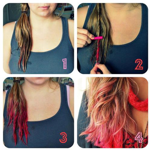 Tizas para el pelo o hair chalk mechas temporales en casa - Como hacer colores ...