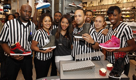 foot locker uniform negro y blanco